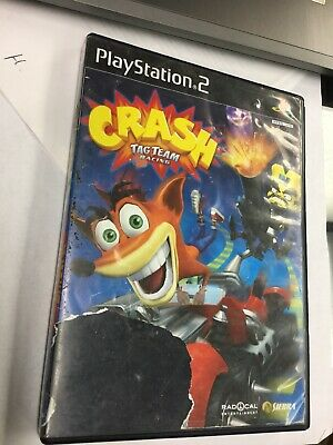 Used Crash Bandicoot Tag Team Racing Sony PlayStation 2 2005 PS2 ()