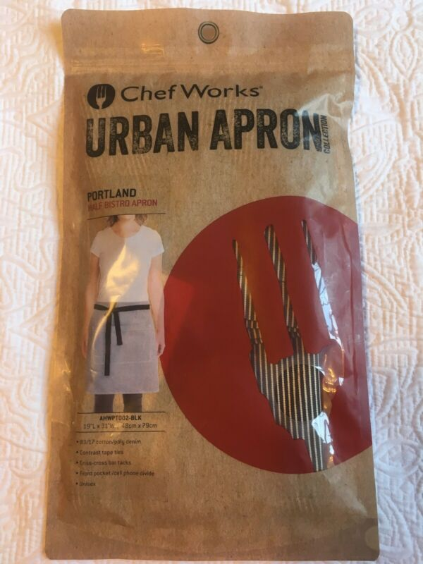 CHEF WORKS URBAN APRON PORTLAND HALF BISTRO APRON