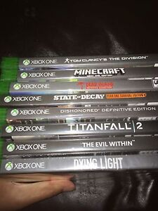 Unopened xbox one games *new*