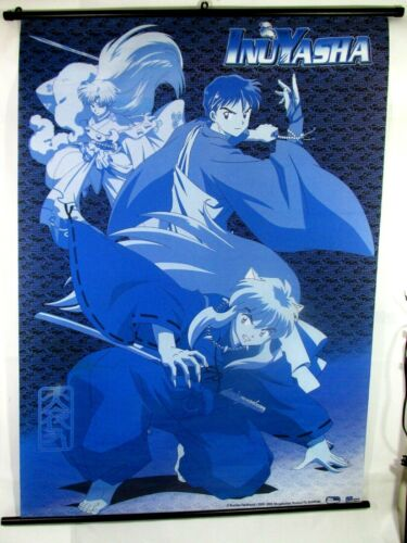 "ORIGINAL 2000-2005 Rumiko Takahashi fabric Poster  INUYASHA 42"" x 31"""