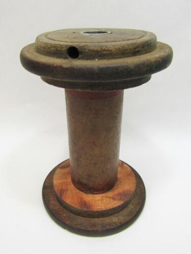"""Vintage Large 6 1/2"""" Wooden Industrial Textile Bobbin Spool"""