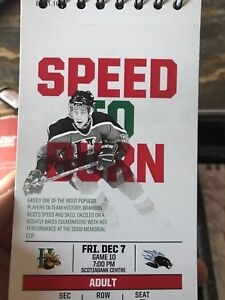 3 HALIFAX MOOSEHEADS LOWER BOWL TICKETS