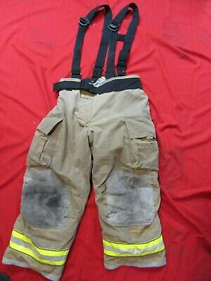 Mfg. 2011 Globe Gxtreme 40 X 32 Firefighter Turnout Bunker Pants Suspenders