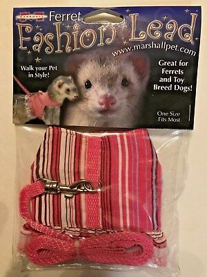 Ferret Jacket (Ferret Toy Dog Fashion Jacket Style Harness Lead Pink Stripes with Lace )