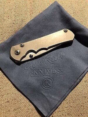 Chris Reeve Knives Large Sebenza 25 Titanium Drop Point S35VN Stonewash CRK
