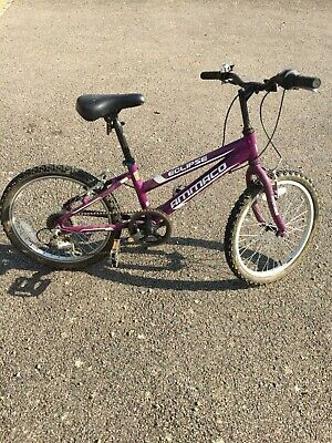 """Purple girls Ammaco bicycle. 20"""" wheels. Good condition. Collection only."""
