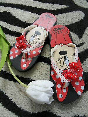 süsse Minnie Maus Mädchen Zehentrenner Flip Badeschuhe 32/33 - Minnie Maus Schuhe