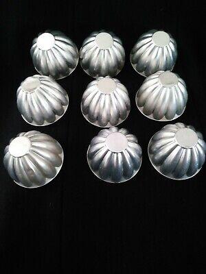 Set of 9 vintage aluminum mini jello molds