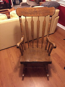 Beautiful solid rocking chair