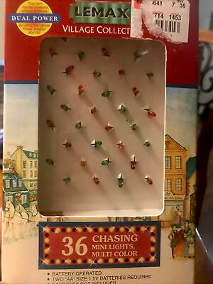 Vtg Lemax 1999 Village Collection 36 Chasing Mini Lights Multicolor Holiday