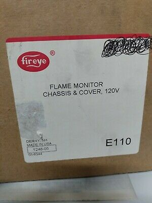 Fireye E110 Flame-monitor Control W Chassis Cover Mounting Screw 120v Nib