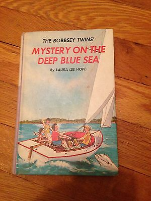 1965   The Bobbsey Twins  Mystery On The Deep Blue Sea  Hardcover   Purple Spine