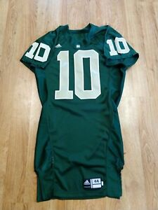 e0e475210 Notre Dame Football 2007 Team Issued Green Jersey  10 Authentic