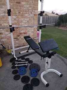HURK HOME GYM inc weights +bars Hillcrest Logan Area Preview