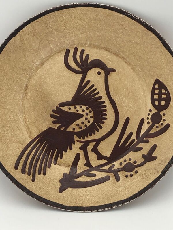 """Ragon House Dinner Plate Rooster or Chicken. 10"""". Brown No Utensil Marks"""