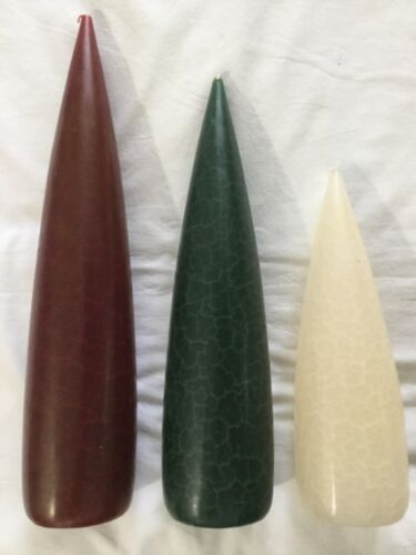 Christmas candles set of 3