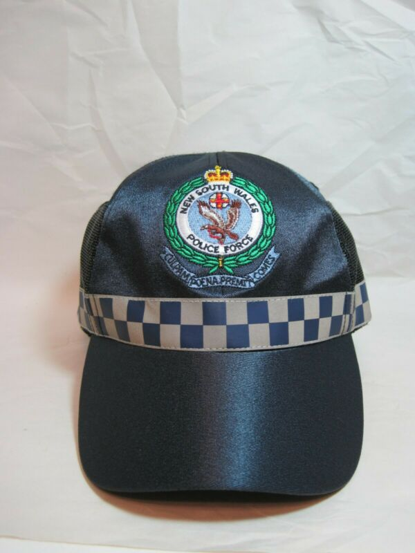 AUSTRALIAN NSW NEW SOUTH WALES POLICE FORCE CAP BY (MOUNTCASTLE & SONS) SIZE L
