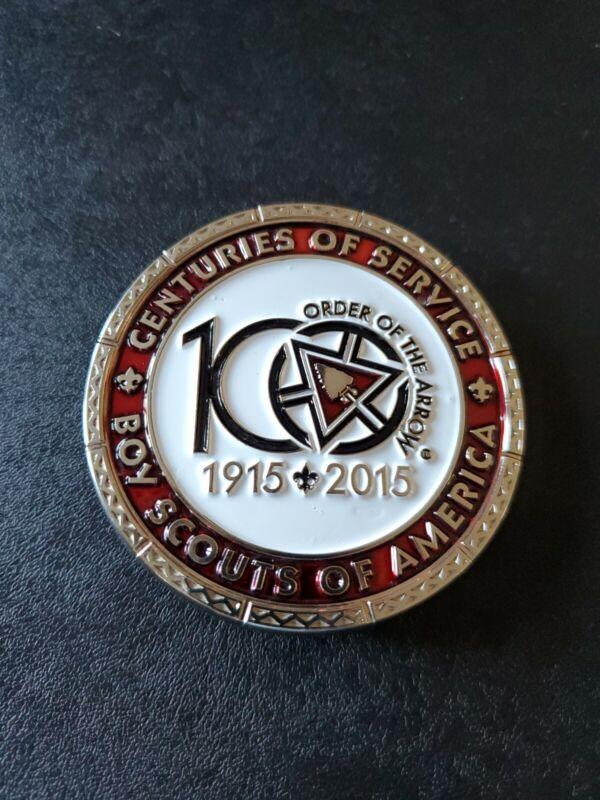 Order Of The Arrow OA 2015 NOAC Belt Buckle Centuries Of Service