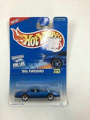 VTG 1995 HOT WHEELS BLUE CARD SERIES 80's Firebird Blue Wired Lace Rims #462 NIP