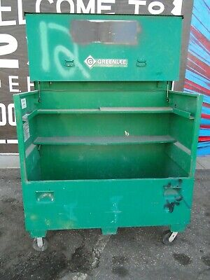 Greenlee 4860 Flat Top Steel Construction Storage Box On Casters 48 X 60 X 30