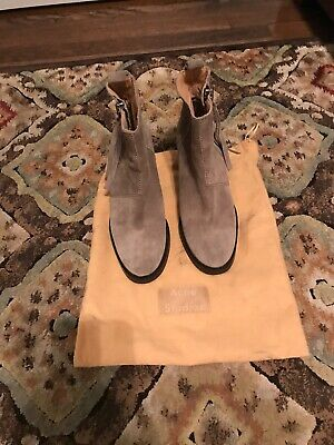 ACNE Studios Pistol Boots in Beige With Dustbag Size 37 $520