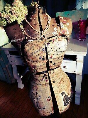 Sweet Genevieve Altered Art Vintage Fashion Dress Form Store Display Vintiqueco