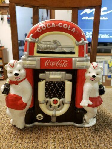"Coca Cola Polar Bear Jukebox ""Always Friends"" Cookie Jar 2000 of 25000 Ltd Ed"