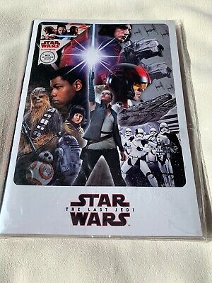 Star Wars The Last Jedi A5 Notebook, 88 Sheets, New
