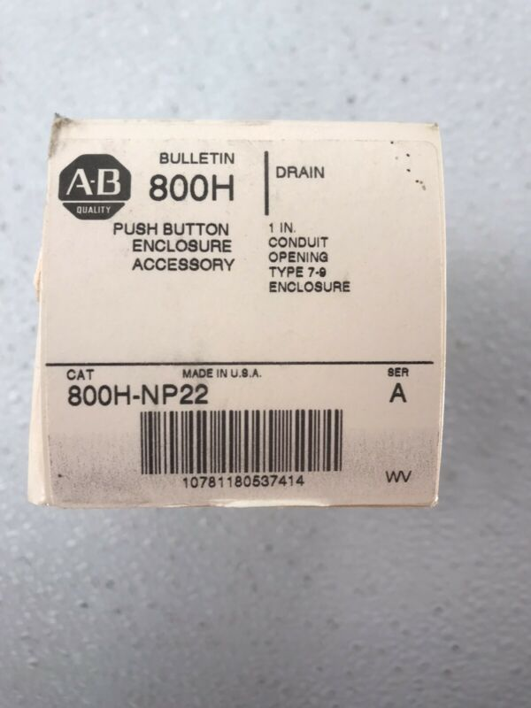 Allen-bradley 800h-np22 Series A Push Button Drain Type 7-9