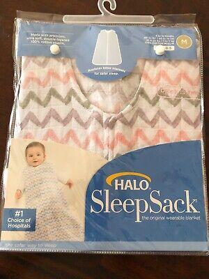 New Halo Sleep Sack Medium 6-12 Months Back is Best Wearable Blanket Chevron