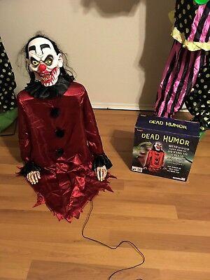 Dead Humor Evil Clown Animated Spirit Halloween Prop - Evil Clown Halloween Prop
