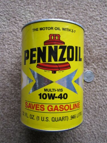 ORIGINAL > PENNZOIL oil can BANK ... Arnold Palmer ... Near MINT ... unused