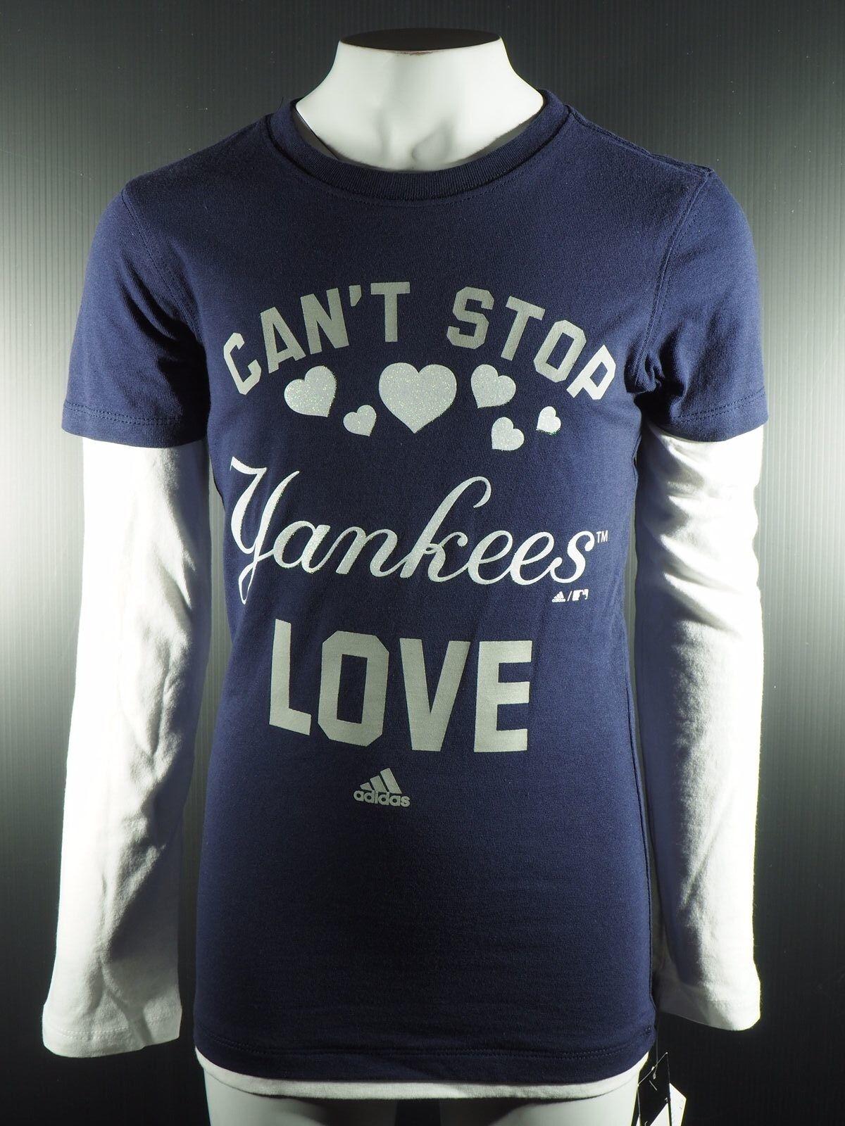2ee61f33c MLB New York Yankees Girls Youth Adidas Official Merchandise Long Sleeve  Shirt