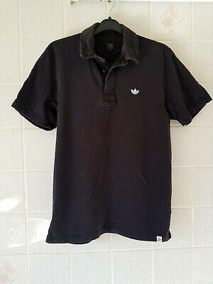 adidas Originals adi dassler Collection Black Polo Shirt Size UK - M (Medium)