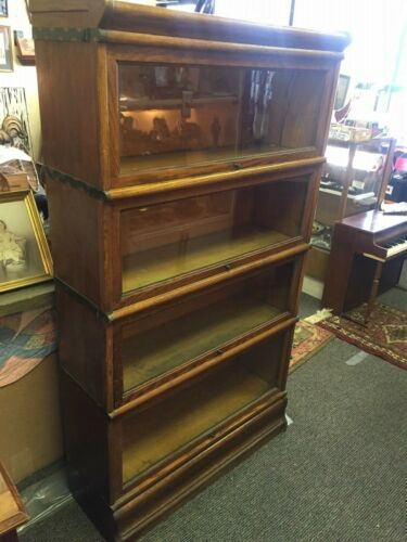 Antique 1905 Globe Wernicke / Macey Transition Golden Oak Barrister Bookcase