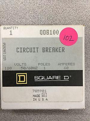 New In Box Square D Single Pole 120 Volt 60 Amp Circuit Breaker Qob100