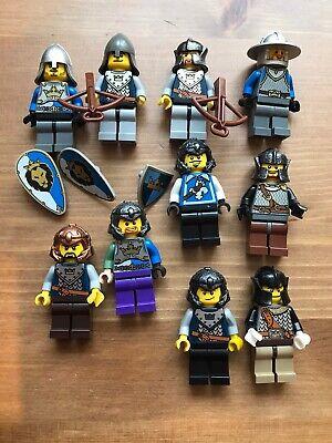 LEGO x10 Lion Knights Minifigure Lot Castle Weapons Shields