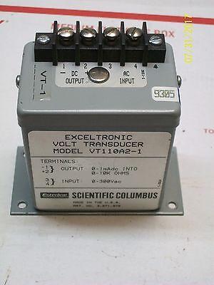 Esterline Scientific Columbus Exceltronic Volt Transducer Vt110a2-1