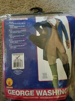 George Washington Child Costume Medium - Worn once for School Musical - MEDIUM - George Washington Costumes For Kids