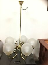 3x Pendant lights, ornate, Victorian brass Clarence Gardens Mitcham Area Preview