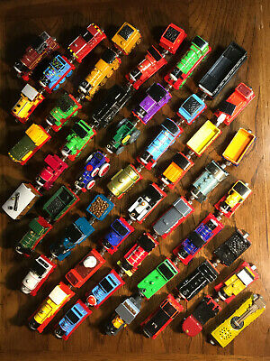 50 Lot Thomas Train Take N Play Diecast Steam Engines Cars Locomotives Toy Boy