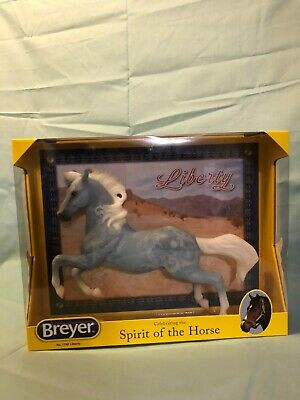 "Breyer 2017 Limited Edition ""Liberty"" Blue Denim Silver Mold NIB"