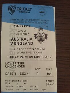 Ashes day 2 tickets x2
