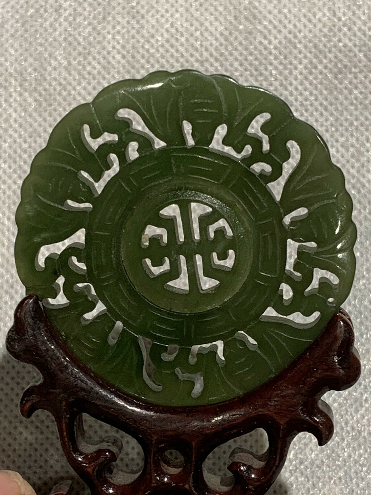 UNUSUAL ANTIQUE CHINESE JADE SPINNER PENDENT - $245.00