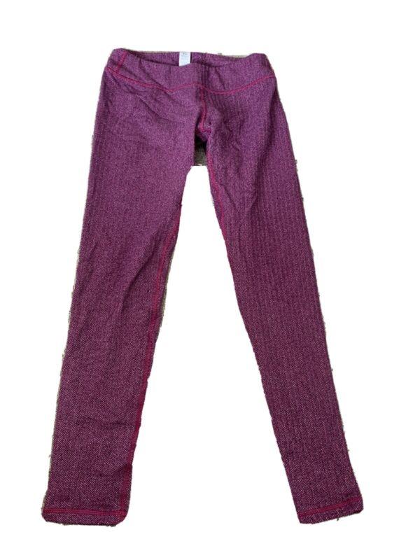 EUC Ivivva Girls Purple Leggings - 12 Thicker Material