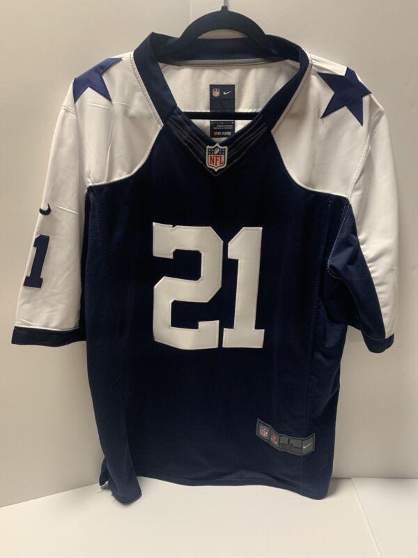 Dallas Cowboys Jersey Ezekiel Elliott #21 Game Replica Throwback