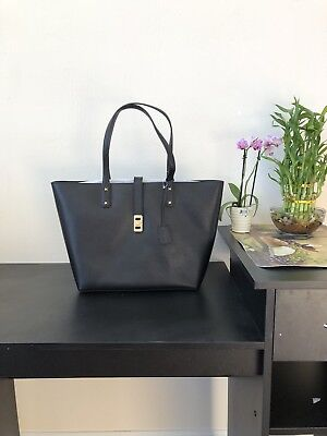 Michael Kors Karson Large Black Pebble  Leather Carryall Tote Bag Pebble Leather Large Tote Bag