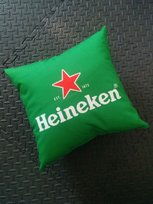 Heineken Beer Green Pillow Brand New