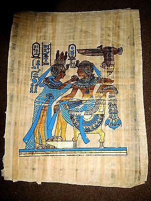 Ägypten Papyrus-Bild 42x30 cm - Die Salbung des Pharao