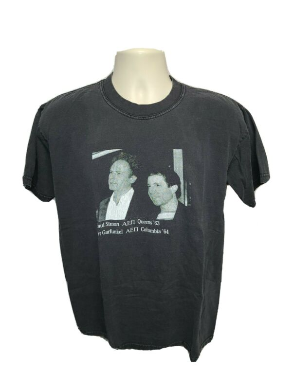 AEII Rush 2000 Paul Simon Art Garfunkel College Adult Medium Black TShirt